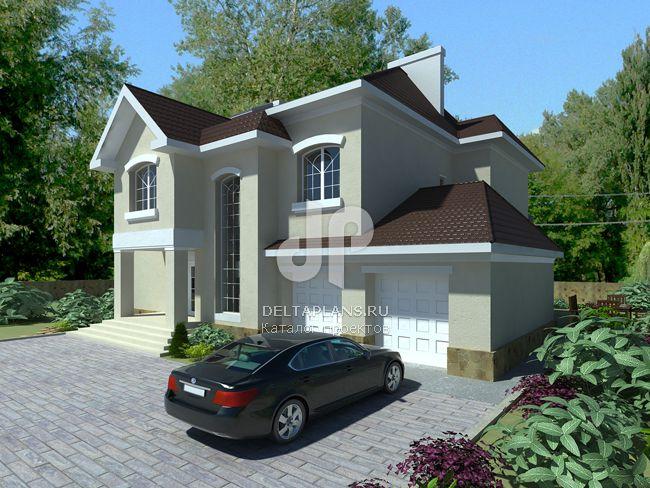 Проект кирпичного дома W-402-1K