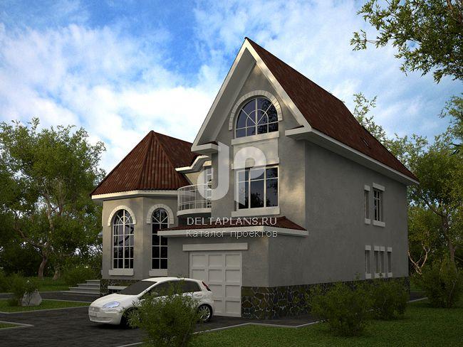 Проект кирпичного дома W-406-1K