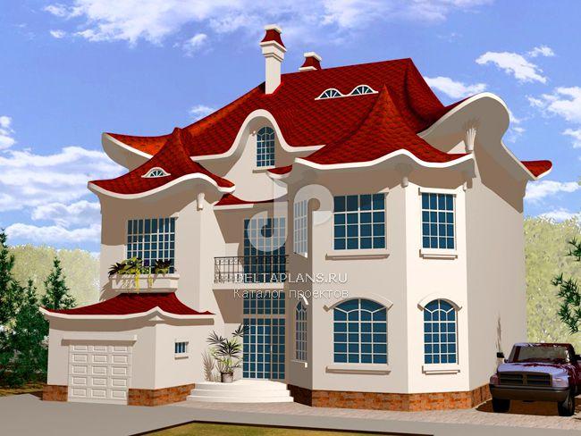 Проект кирпичного дома W-429-1K