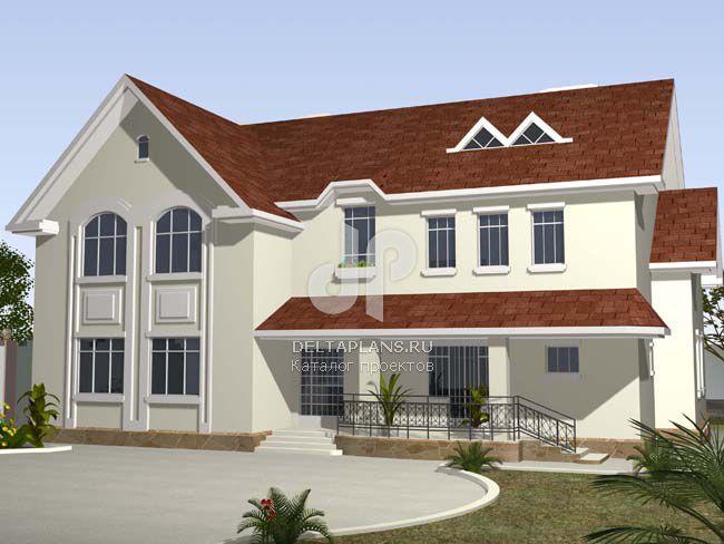 Проект кирпичного дома W-483-1K