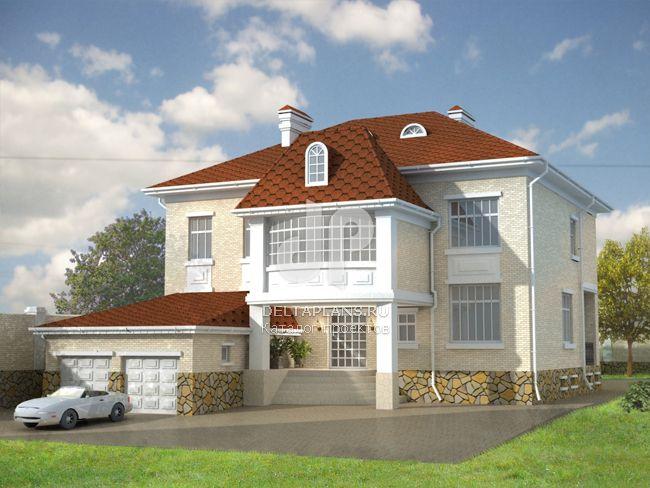 Проект кирпичного дома W-531-1K