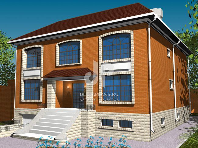 Проект кирпичного дома W-557-1K