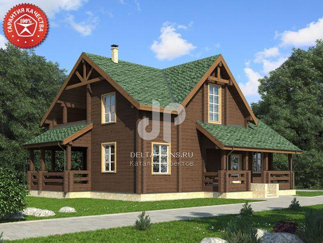 Проект деревянного дома Y-261-1D