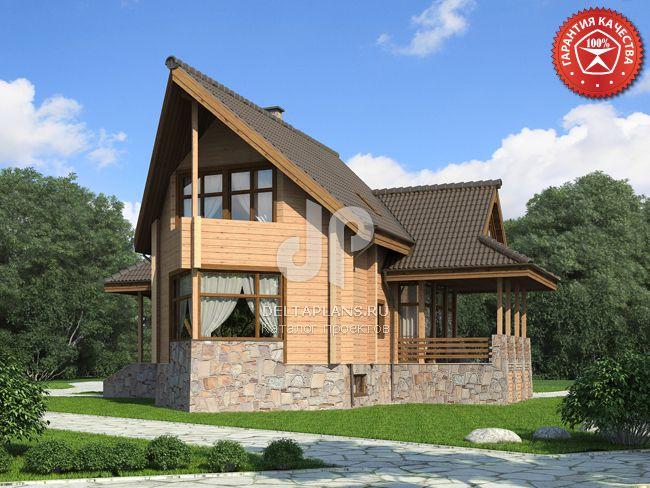 Проект деревянного дома Y-272-1D