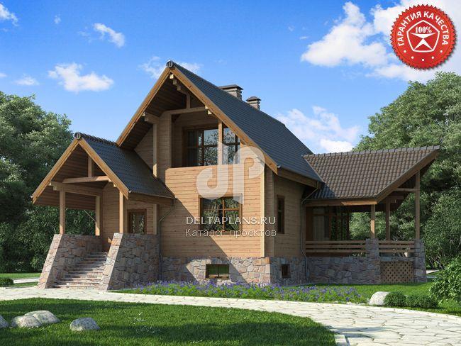 Проект деревянного дома Y-282-1D
